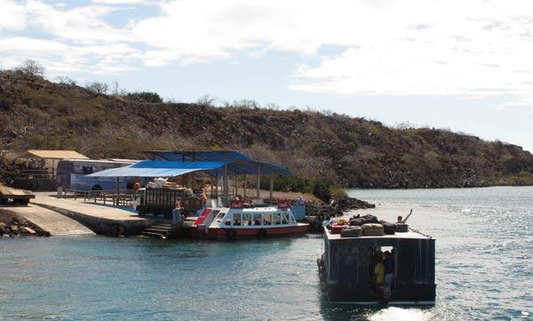 Débarcadère de l'île de Baltra aux Galapagos