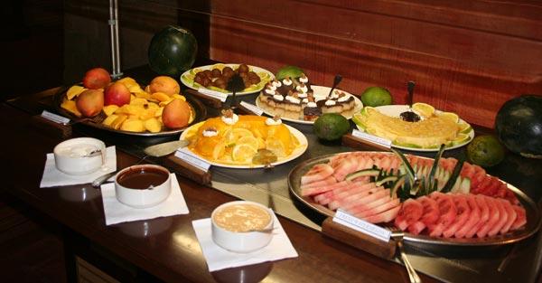 Desserts du buffet