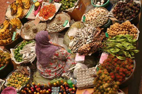 Etal du marché de Kota Bharu