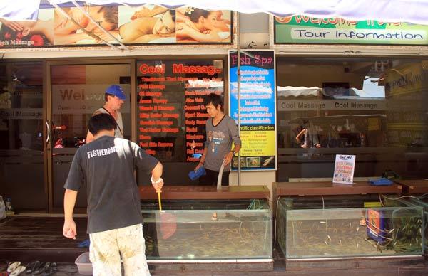Fish spa à Patong en Thaïlande