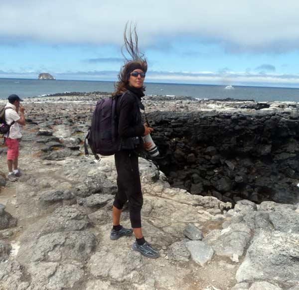 Galapagos : Nathalie, cheveux au vent !