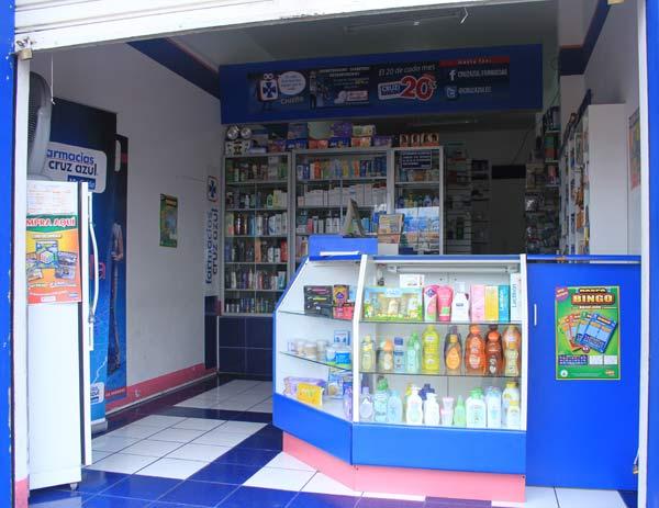 intérieur pharmacie commerces aux Galapagos