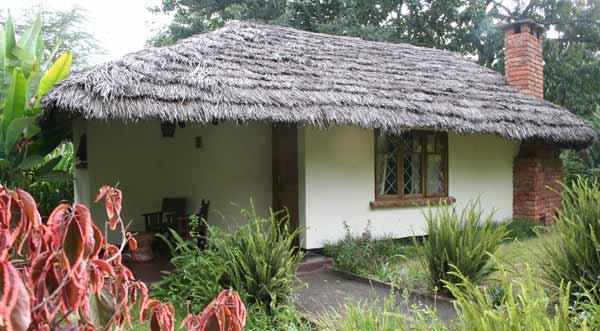 Cottage au toit de chaume