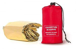couverture de survie pour rando raquettes