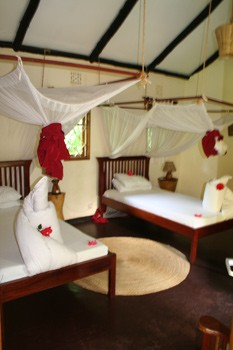 Intérieur de mon cottage au Moivaro Lodge