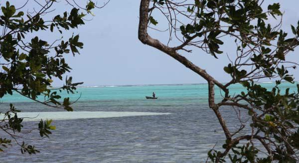 Lagon sur l'île aux Nattes