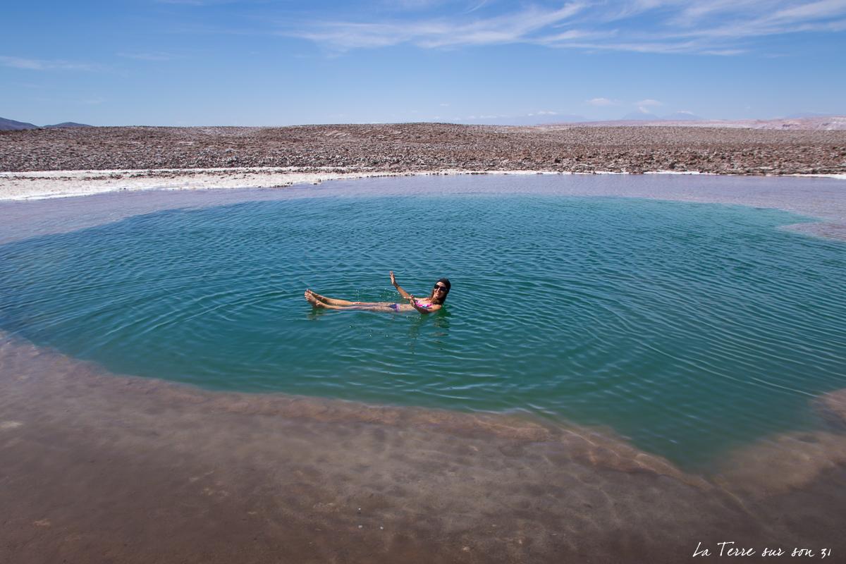 baignade désert d'Atacama