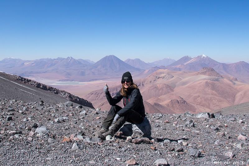bord cratère volcan lascar