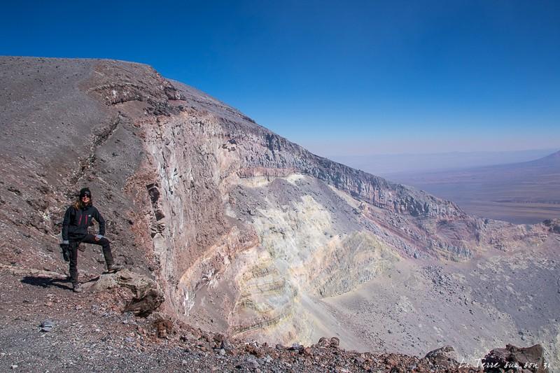 bord du cratère du volcan Lascar