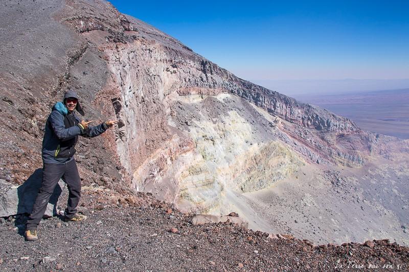 volcan lascar cratère