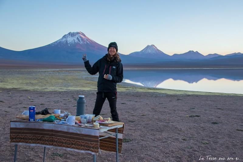petit-déjeuner volcan Lascar
