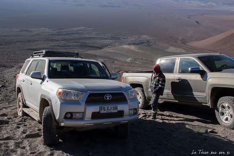 voiture point départ ascension volcan lascar
