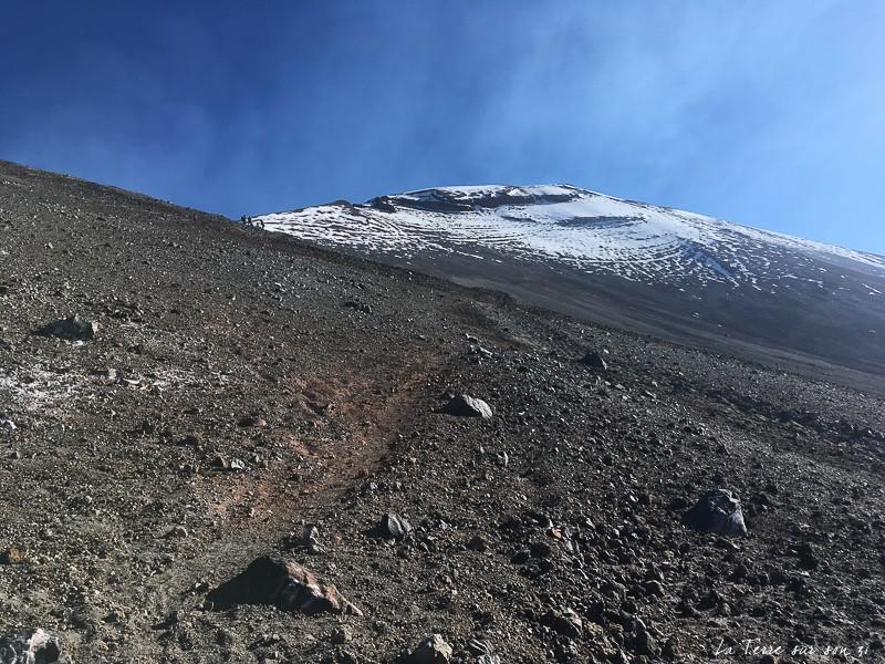 Sentier pour gravir le volcan Lascar