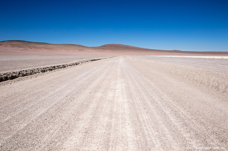 piste desert atacama, environs du salar de Huasco
