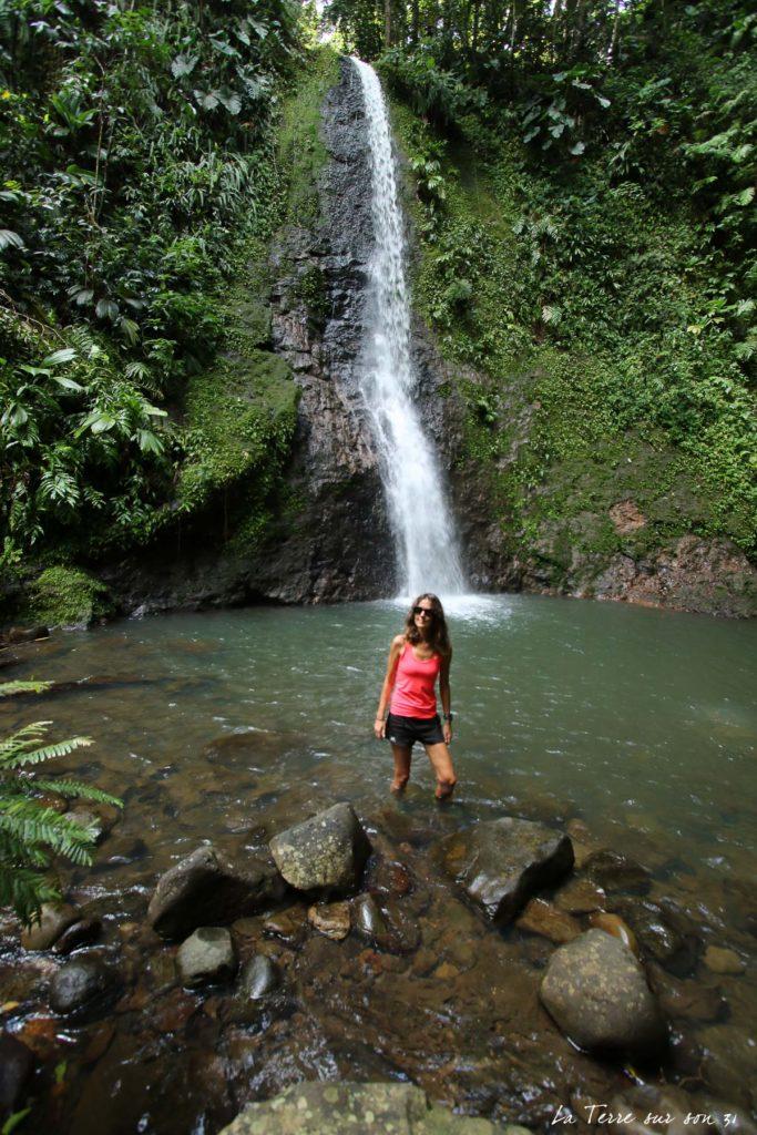 cascade de bois bananes basse terre