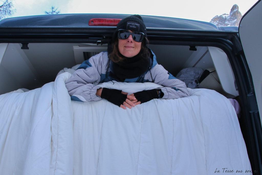 équipement froid voyage en van l'hiver