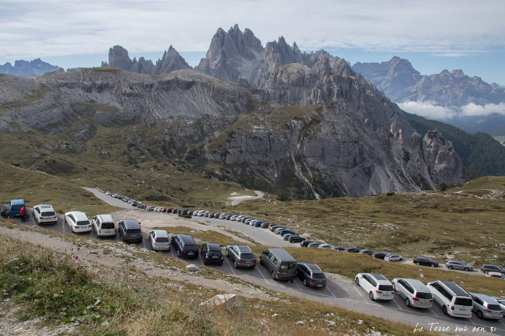 parking Tre Cime l'été
