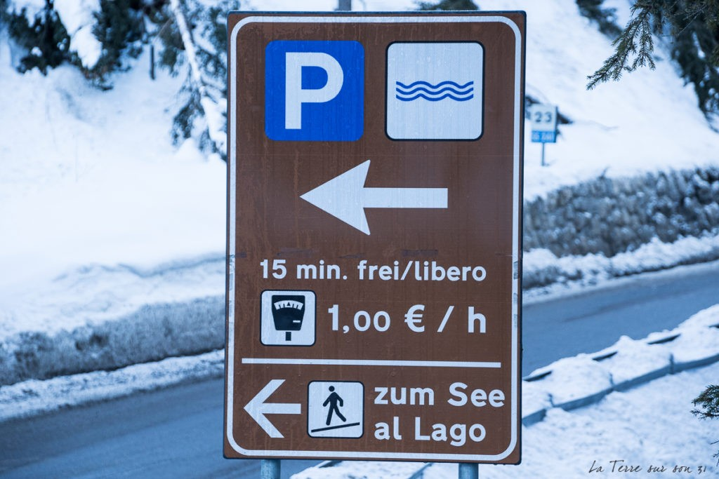 Tarif parking lac de Braies Dolomites