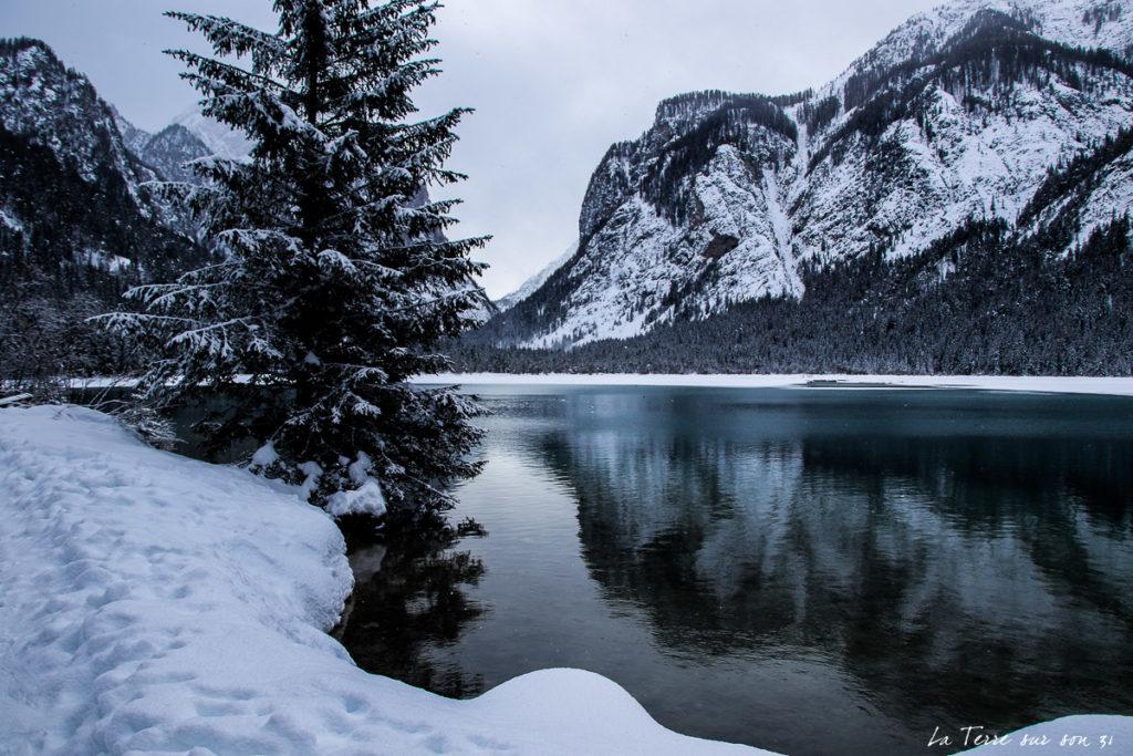 lac dobbiaco dolomites italiennes