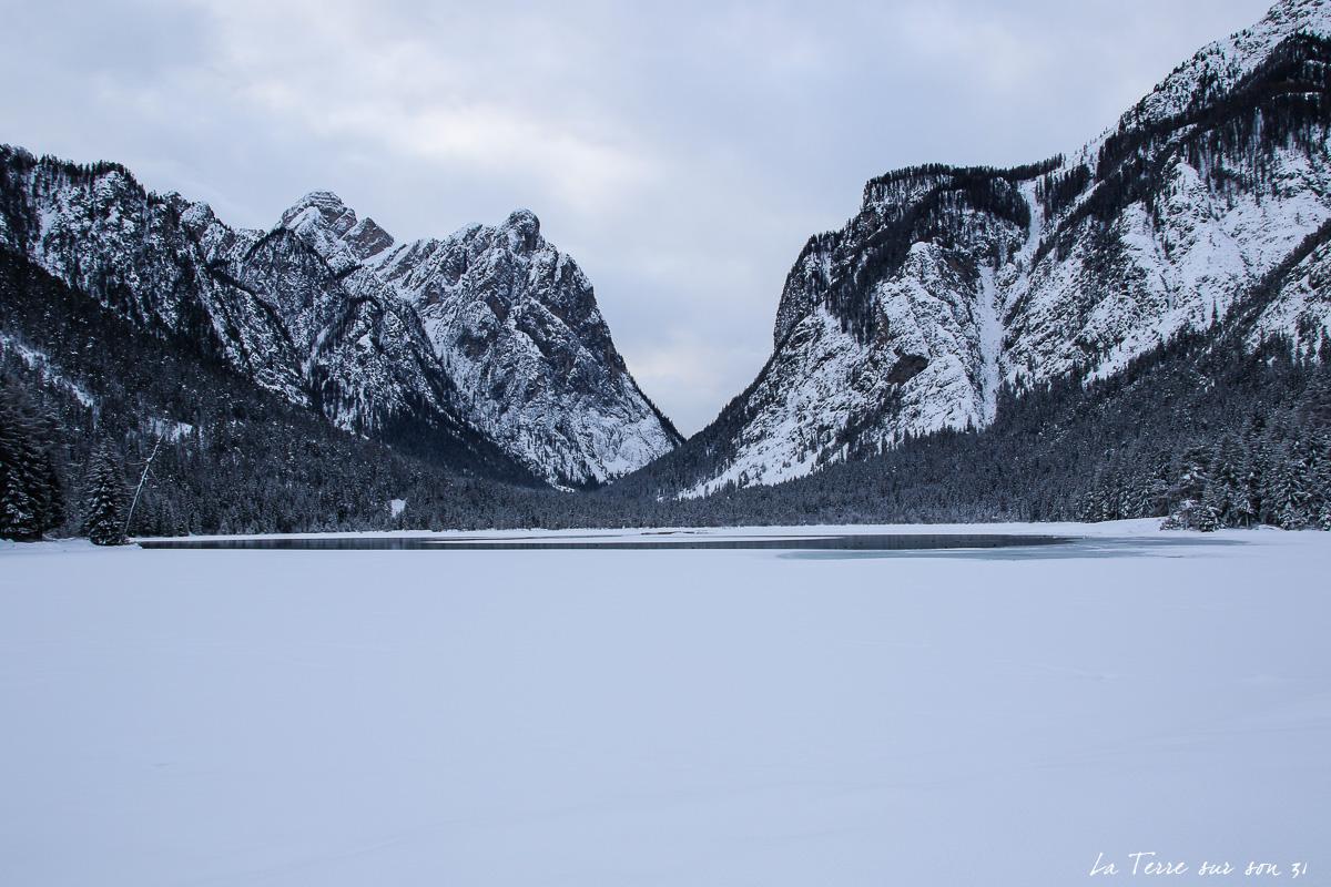 lac gelé dolomites