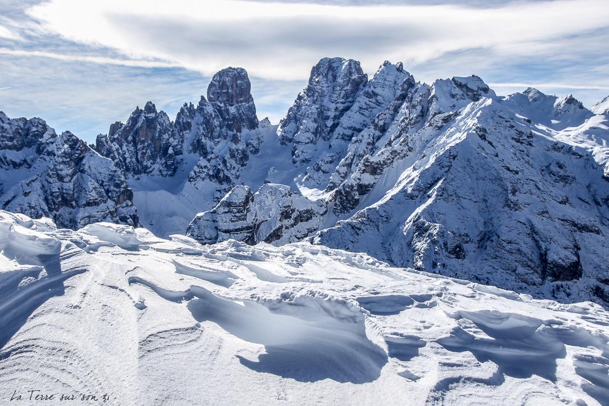 montagne hiver dolomites