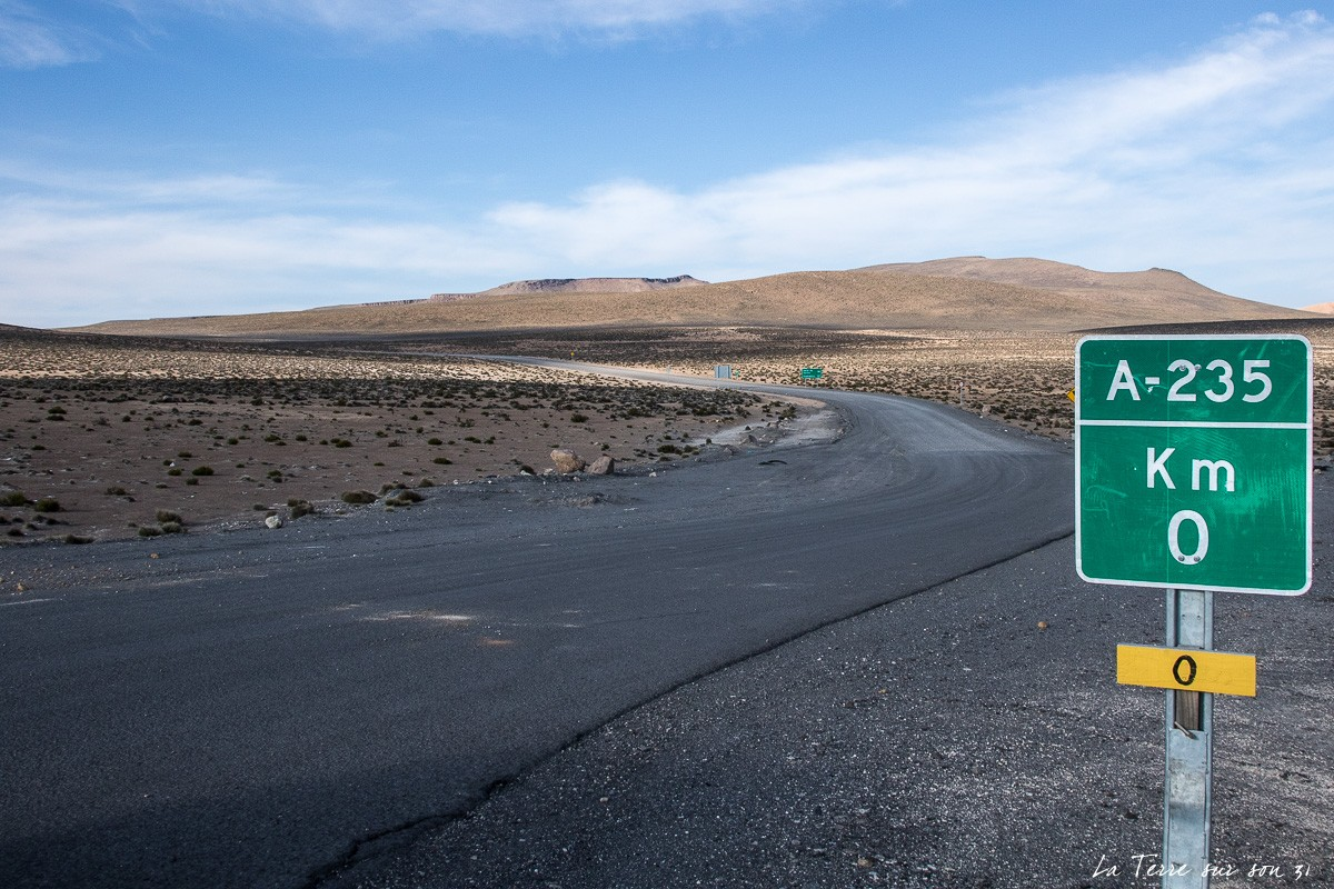 route A235 salar de surire