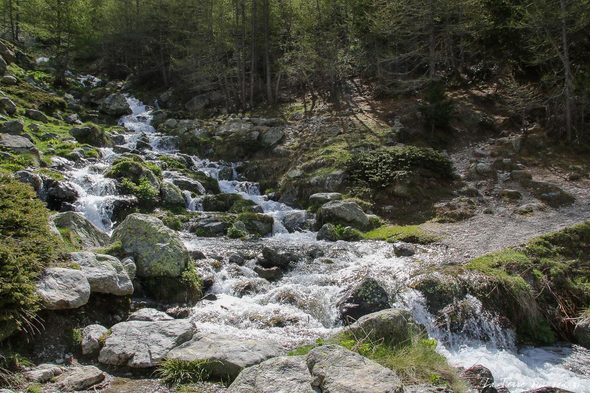 traversée torrent lacs de prals