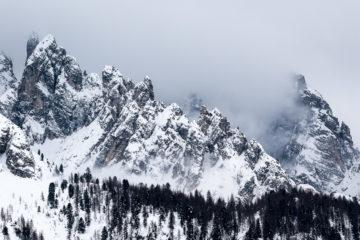 dolomites en hiver